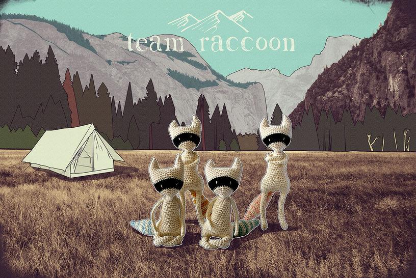 Télécharger Team raccoon - crochet - Modèles de crochet tout de suite sur Makerist