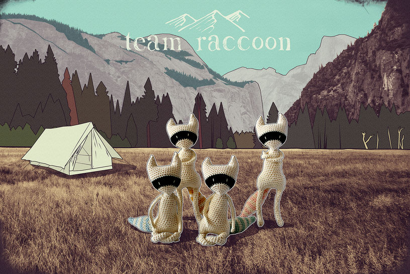Download Team raccoon - amigurumi pattern - Crochet Patterns immediately at Makerist