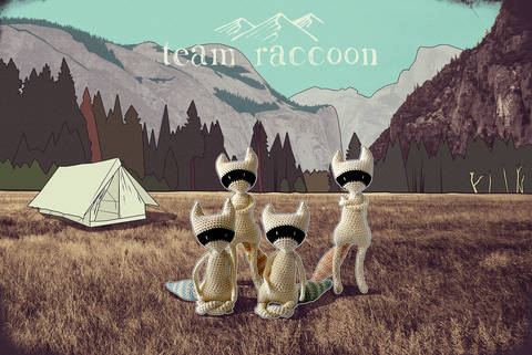 Download Team raccoon - amigurumi pattern immediately at Makerist