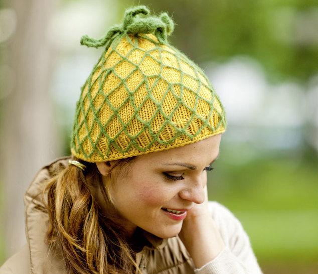 Ananas-Mütze Strickanleitung - Strickanleitungen bei Makerist sofort runterladen