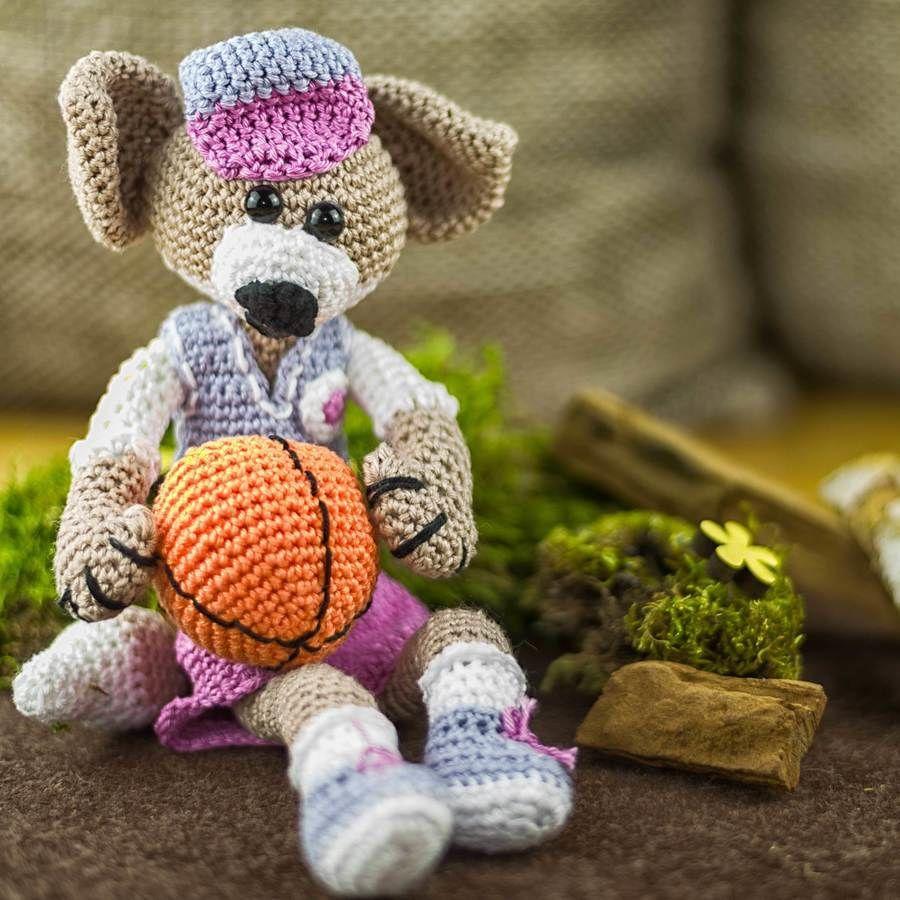 Häkelanleitung: Franky, der Basketballspieler