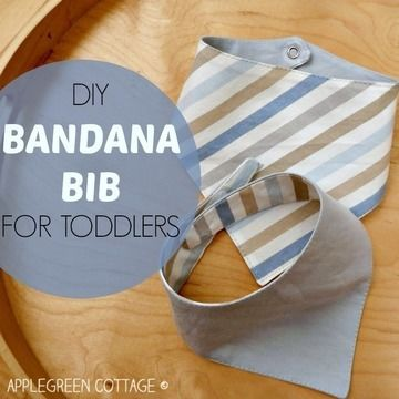 Download My Best Bandana Bib For Toddlers - FREE pdf Pattern and Tutorial - Sewing Patterns immediately at Makerist