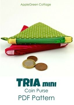 Download TRIA Mini Coin Purse - PDF Sewing Pattern and detailed instructions - Sewing Patterns immediately at Makerist