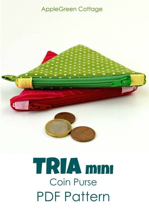 Download TRIA Mini Coin Purse - PDF Sewing Pattern and detailed instructions immediately at Makerist