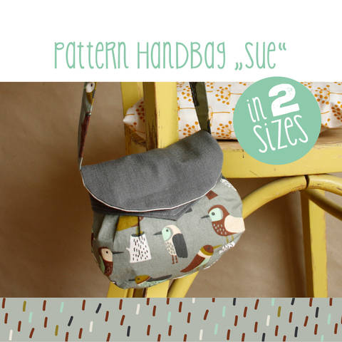 Download Handbag SUE in two sizes sewing pattern and instructions immediately at Makerist