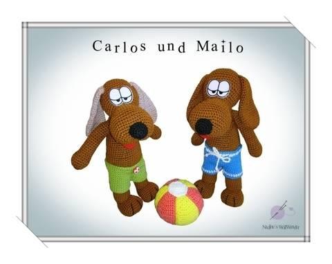 Häkelanleitung: Hunde Carlos und Mailo bei Makerist sofort runterladen