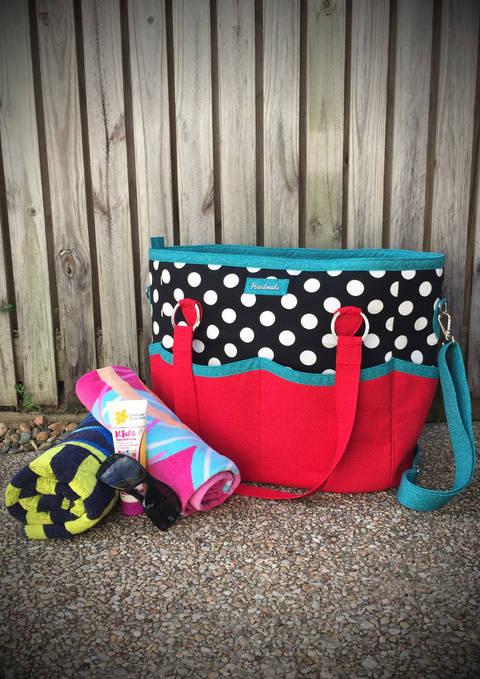 Summer Lovin' Beach Tote - Tote Bag Sewing Pattern (en) bei Makerist sofort runterladen