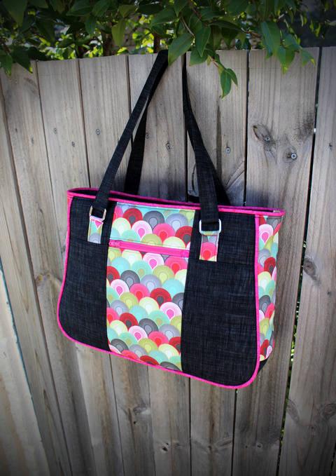 Goin' Uptown Tote - Tote Bag Sewing Pattern (en) bei Makerist sofort runterladen