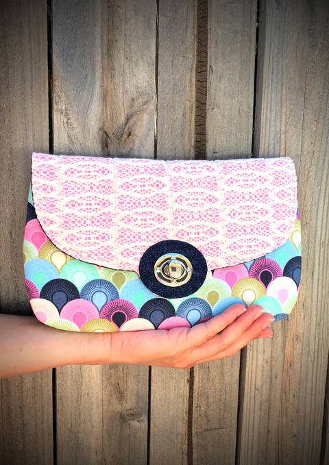 The Statement Clutch - Clutch Sewing Pattern (en) bei Makerist sofort runterladen