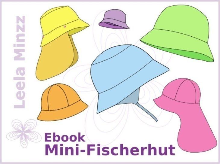 Mini-Fischerhut Gr.34 bis 54 + viele Extras, Schnittmuster und Anleitung