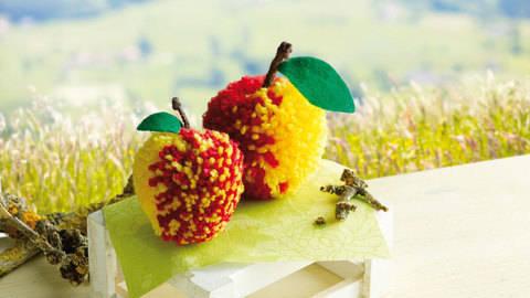 Rot-gelbe Äpfelchen Bastelanleitung bei Makerist sofort runterladen
