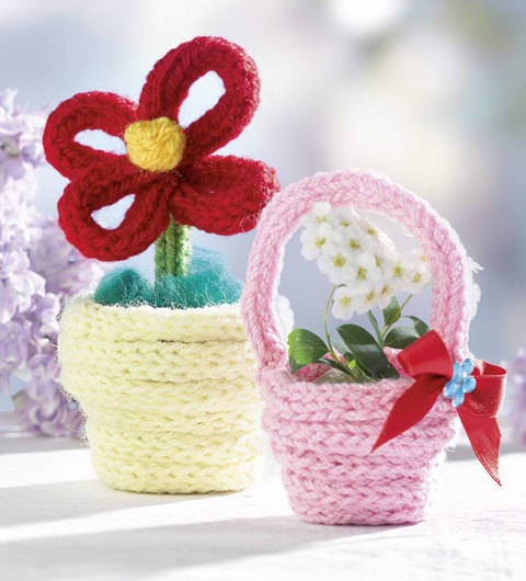 Blumentopf und Körbchen (Anleitung für Strickliesel) bei Makerist sofort runterladen