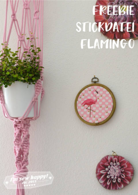 Freebie Flamingo Stickdatei bei Makerist sofort runterladen