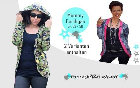 * Freestyle Rocker *  Mummy Cardigan *  Gr. 32 - 50 *  bei Makerist sofort runterladen