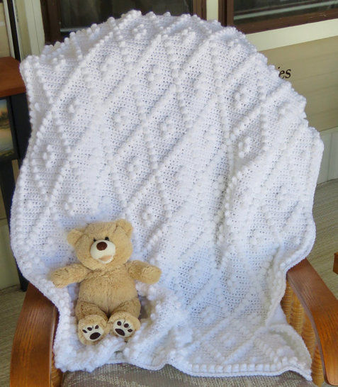 Download Diamonds and Bobbles Baby Blanket - Crochet Patterns immediately at Makerist