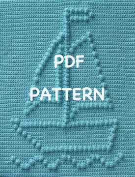 Download Sailboat Baby Blanket - Crochet Patterns immediately at Makerist