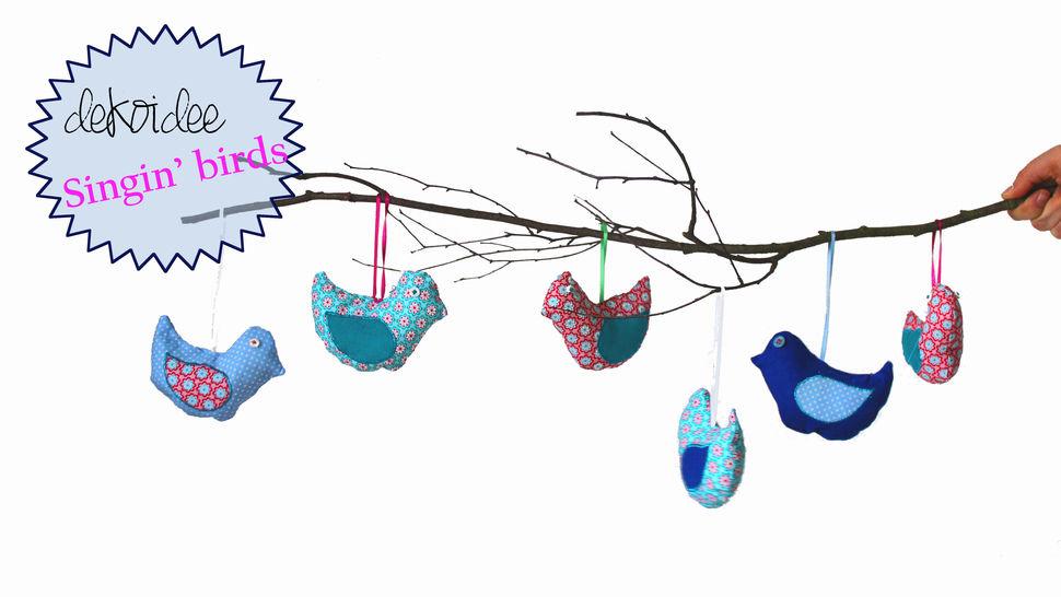 Frühlingsdeko Singin' Birds Nähanleitung und Schnittmuster - Nähanleitungen bei Makerist sofort runterladen