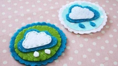 Nähanleitung Brosche Wolke aus Filz oder Baumwollstoff bei Makerist sofort runterladen