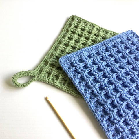 Download Waffle Stitch Dishcloth Crochet Pattern immediately at Makerist