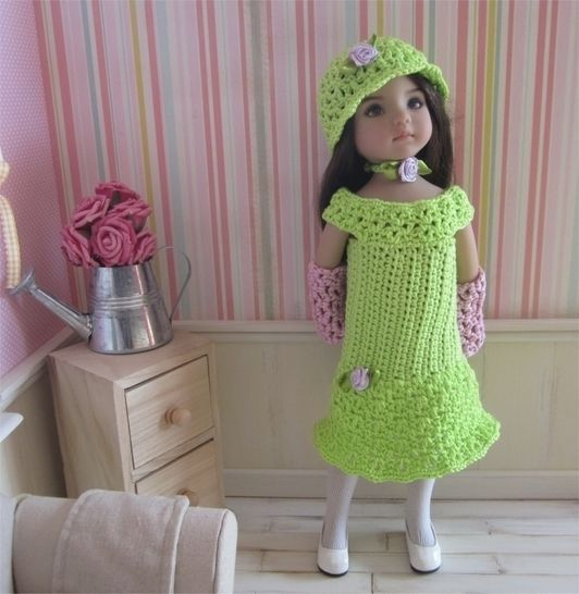 Download Primrose: crochet outfit for 32-34cm dolls - Crochet Patterns immediately at Makerist