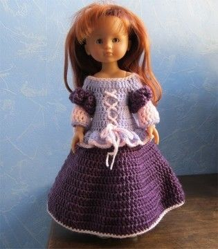 Download Princess Mary: crochet outfit for 32-33 cm dolls - Crochet Patterns immediately at Makerist