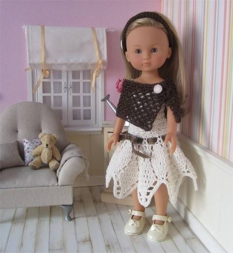 Download Sarah: crochet outfit for 32-34cm doll immediately at Makerist