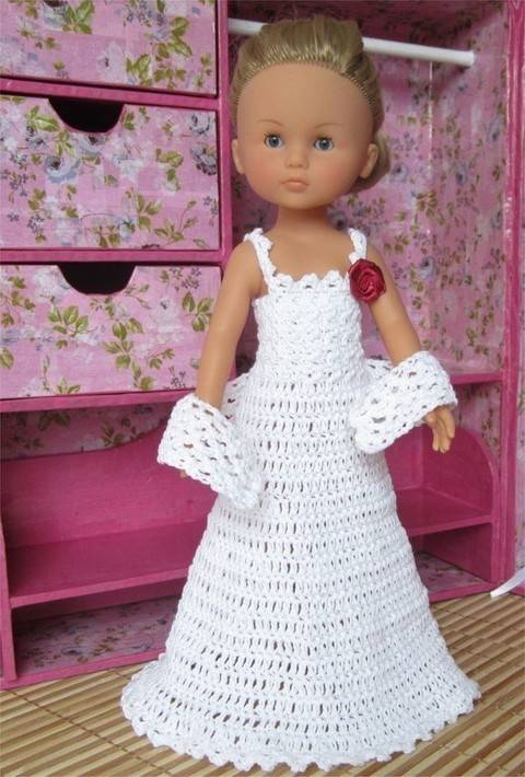 Download Special Day: crochet outfit for 32-33 cm dolls immediately at Makerist