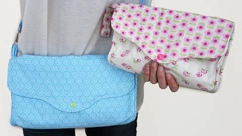 Nähanleitung Tasche Claire mit 3 Fächern E-Book bei Makerist sofort runterladen