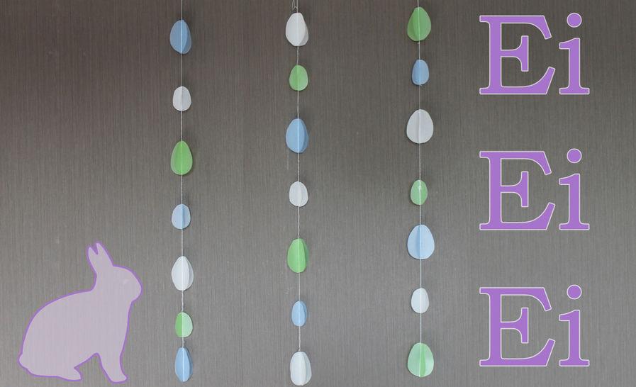 Osterdeko Ei, Ei, Ei-Girlande - Nähen mit Papier - Nähanleitungen bei Makerist sofort runterladen