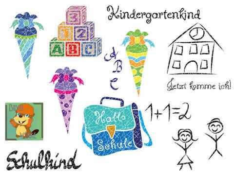 Kindergarten und Schulkind Set (Plotterdatei) bei Makerist sofort runterladen