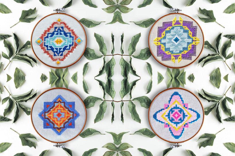 Geometrie Set Kreuzstich - Stickmuster bei Makerist sofort runterladen