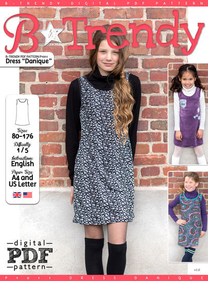 Download Dress DANIQUE PDF Pattern + Tutorial - Sewing Patterns immediately at Makerist