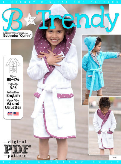 Download Bathrobe QUINN PDF Pattern + Tutorial - Sewing Patterns immediately at Makerist