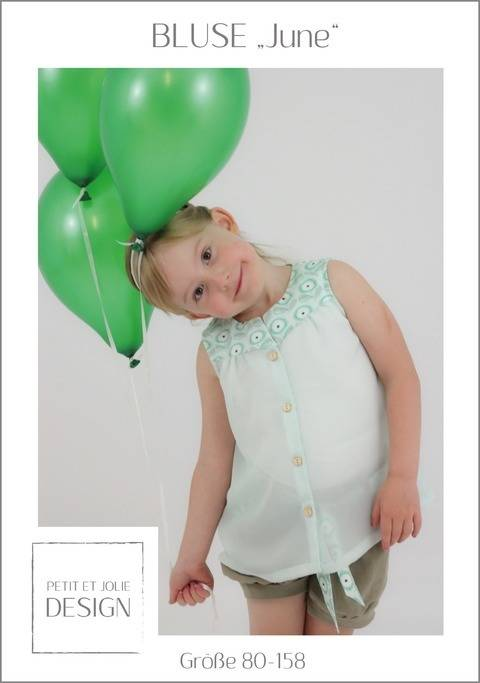 "BLUSE ""June"" Gr. 80-158 - Ebook ""Petit et Jolie Design"" bei Makerist sofort runterladen"