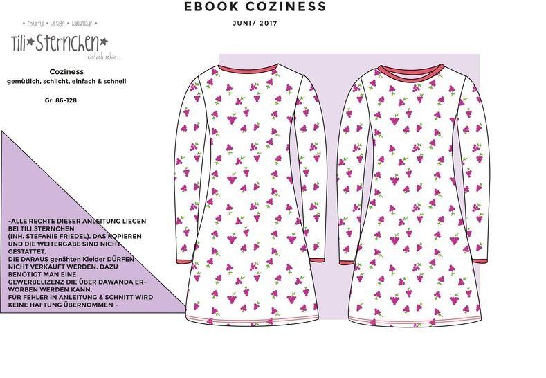 Ebook #22 Coziness Schnittmuster PDF Basic Kleid Anleitung