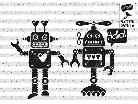 """Plotterdatei """"Roboterliebe"""" bei Makerist sofort runterladen"""
