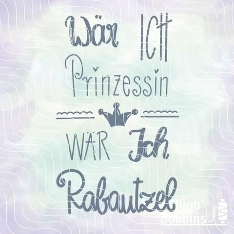 Plottdesign Prinzessin Rabautzel bei Makerist sofort runterladen