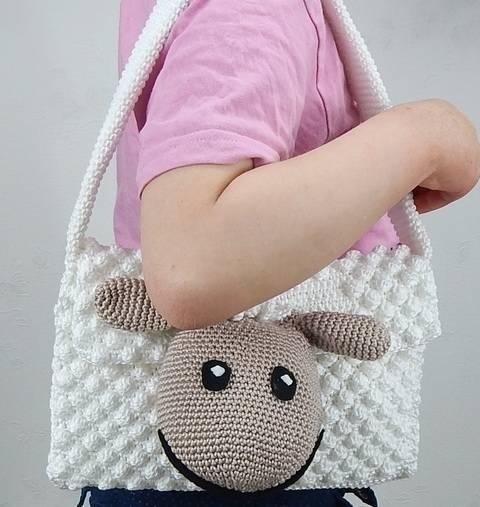 Häkelanleitung Schäfchentasche Kindergartentasche bei Makerist sofort runterladen