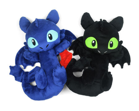 Download Night Fury Dragon Toothless Plush Stuffed Animal Toy Sewing Pattern - Sewing Patterns immediately at Makerist