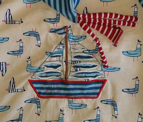 Segelschiff, negativ Applikation 13x18  bei Makerist sofort runterladen