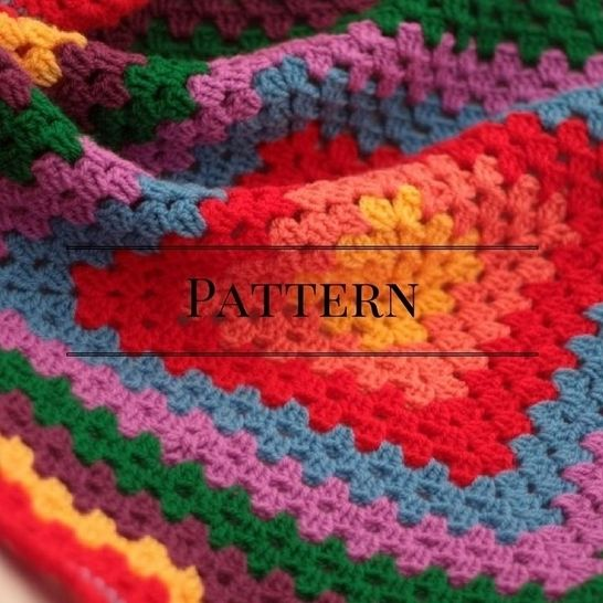 Download Rainbow Granny Square Baby Blanket - Crochet Patterns immediately at Makerist