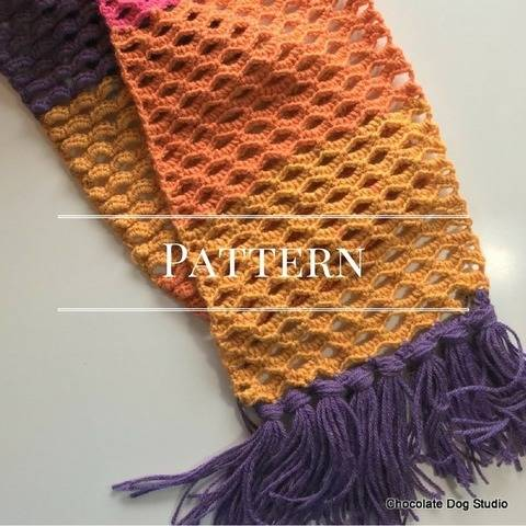 Download Ocean Waves Crochet Scarf immediately at Makerist