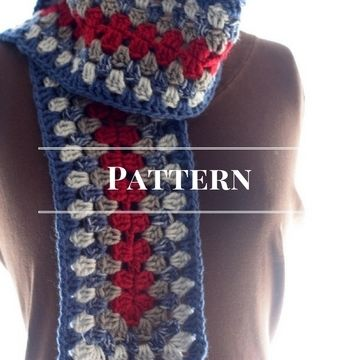 Download Basic Granny Stripe Scarf - Crochet Patterns immediately at Makerist