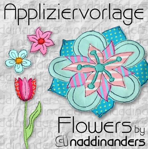 Appliziervorlage Flowers bei Makerist sofort runterladen