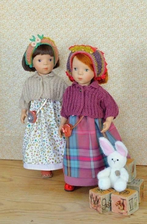 """Télécharger """"Partie de Campagne"""" Patron 4 pièces pour poupée de 27 cm à 34 cm tout de suite sur Makerist"""