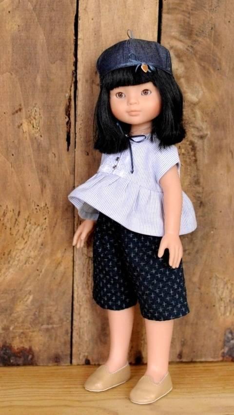 """Télécharger """"Petit page"""" Patron3 pièces  pour poupée de 27 cm à 35 cm tout de suite sur Makerist"""