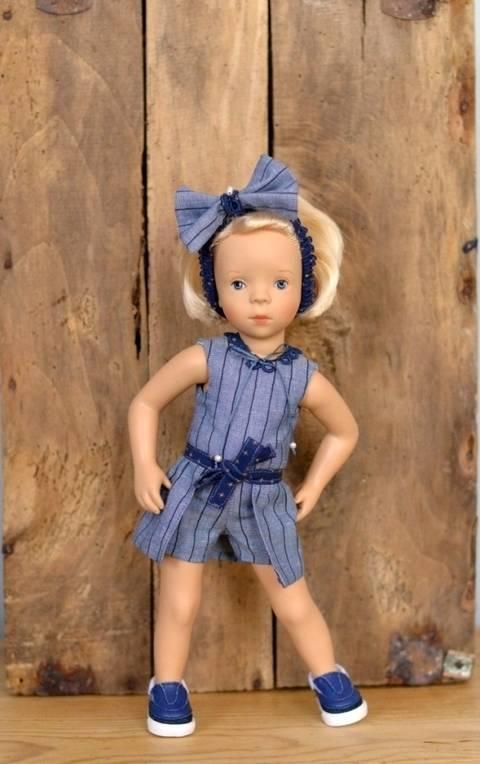 """Télécharger """"Effrontée"""" patron 3 pièces pour poupée de 27 cm à 35 cm tout de suite sur Makerist"""