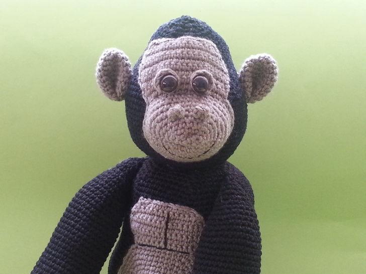 Gorilla Gustav - Häkelanleitung - Häkelanleitungen bei Makerist sofort runterladen