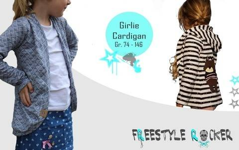 * Freestyle Rocker * Girlie Cardigan * Gr. 74 - 146 * bei Makerist sofort runterladen