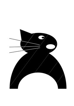 Download Black cat -cutting files - Cutting Files immediately at Makerist